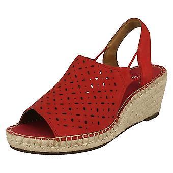 Mesdames Clarks Slingback Wedge Sandals Petrina Gail
