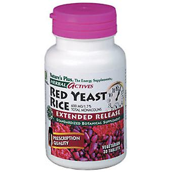 Natures Plus Extended Release RED YEAST RICE 600MG TABS 60
