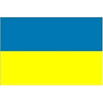 Vlag van de Oekraïne 5ft x 3ft (100% polyester) met oogjes voor Opknoping