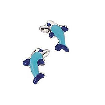 Ragazza di Scout bambini Orecchini orecchio taglierina d'argento blu del delfino 262003100