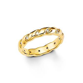 s. Oliver ladies di gioiello anello zirconi oro giallo SO1181 argento