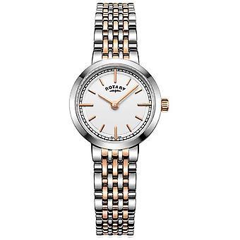 Rotary Womens Canterbury Two Tone White Dial LB05061/02 Watch