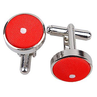Roten Pin Dot Manschettenknöpfe
