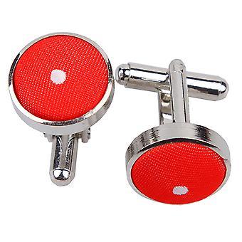 Rød Pin Dot manchetknapper