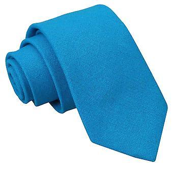 Türkis Blau Hobsack Leinen Slim Krawatte