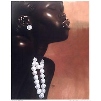 Pearl Necklace Poster Print by Laurie Cooper (8 x 10)