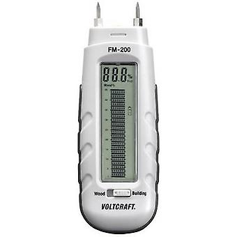 VOLTCRAFT FM-200 Moisture meter Building moisture reading range 0.2 up to 2 vol % Wood moisture reading range 6 up to 44 vol %