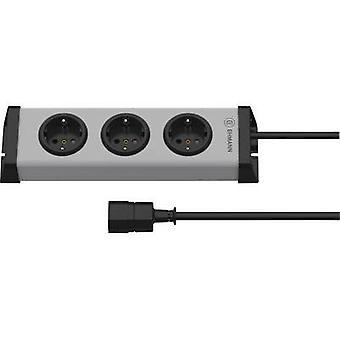 Socket strip (w/o switch) 3x Grey PG connector Ehmann Vario Linea