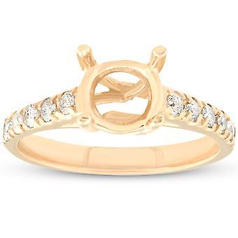 Diamond Semi Mount engagemang inställningen montering 14K Ring