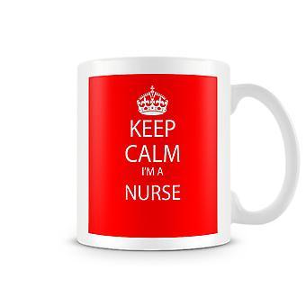 Keep Calm jeg en sygeplejerske trykte krus
