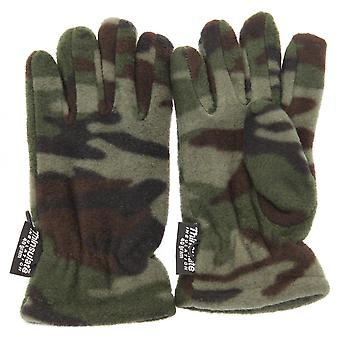 Childrens Boys Camouflage Thinsulate Thermal Winter Gloves (3M 40g)