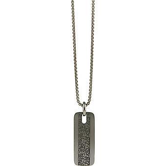 Ti2 Titanium Floral Pendant - Silver