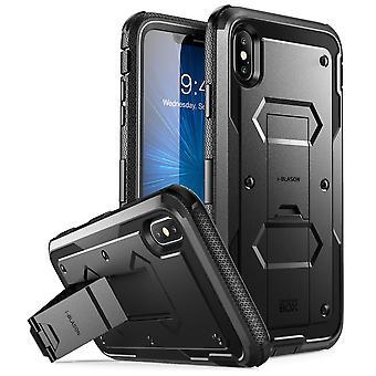 Xs Max Case, de iPhone de [Armorbox] [construído no protetor de tela] [pesado dever proteção] [suporte] caso (2018) (preto)