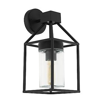 Lámpara de pared al aire libre Eglo Trecate IP44 negro