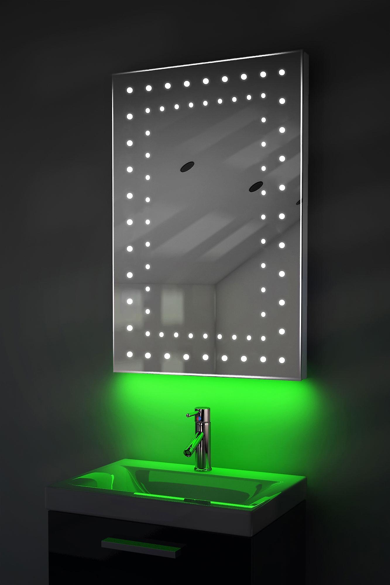 Auto Colour Change Rgb Ultra-Slim Mirror With Demister & Sensor K43Rgb