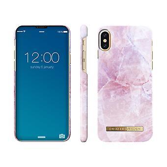 idealer af Sverige iPhone X / XS marmor shell-Pilion Pink