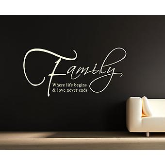 الأسرة حيث تبدأ الحياة والحب الذي لا ينتهي