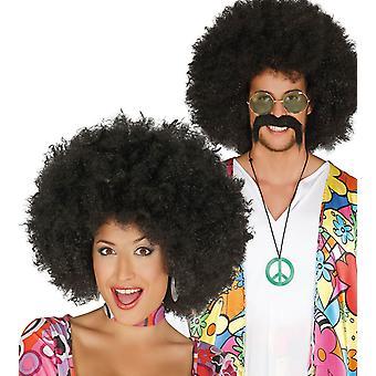 Vuxna 70-talet svart Afro peruk maskeraddräkter tillbehör