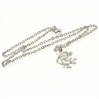Rangers FC Silver Plated Pendant And Chain
