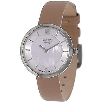 Boccia ladies Quartz digital watch with leather strap 3266-01
