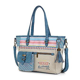 Weibliche Art Handtasche einkaufen mit Schulter 302581 Skpat