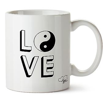 Hippowarehouse Love Yin Yang Printed Mug Cup Ceramic 10oz