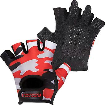Contraband Sports 5217 Pink Label Camo Weight Lifting Gloves - Red