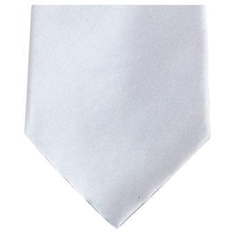 Cravatta poliestere regolare di Knightsbridge cravatte - argento