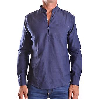 Armani Jeans Ezbc039026 Mænd's Blå Bomuldsskjorte