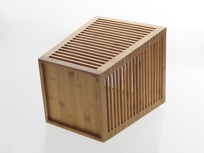 Woodquail Bamboo Waste Paper Bin Home Office Waste Basket