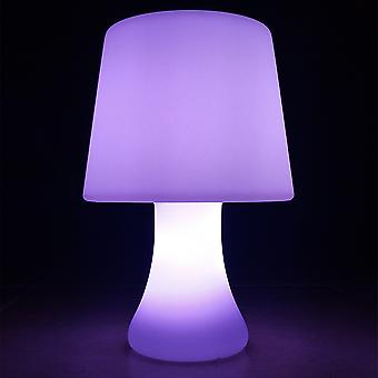 Modern Home Portable Cordless LED Glowing Table Lamp w/Infrared Remote Control