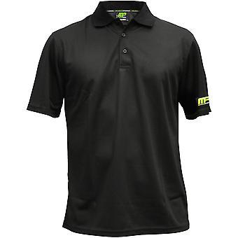 MusclePharm Mens MP Polo Shirt - Black - mma bjj gym ufc