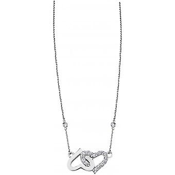 Necklace and pendant Lotus Silver MOMENTS LP1594-1-1 - necklace and pendant MOMENTS money heart woman