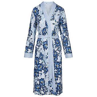 Rösch 1193140-11573 Frauen's neue Romantik Indigo Blumen blau Floral Baumwolle Robe