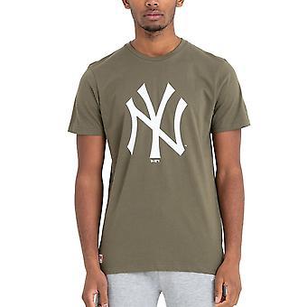 New Era Basic Shirt-MLB New York Yankees oliv