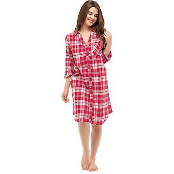 Foxbury Damen traditionelle gebürstete Baumwolle Check Nachthemd