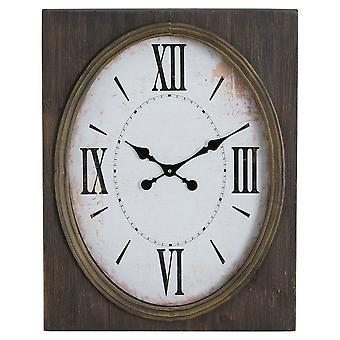Inset Oval Uhr mit römischen Ziffern