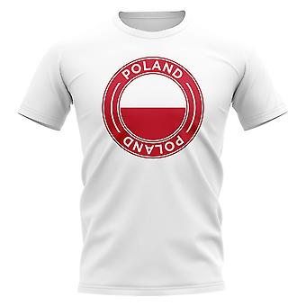T-Shirt distintivo da calcio polacco (bianco)