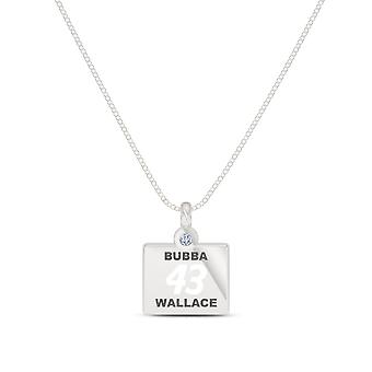 Bubba Wallace Diamond Pendant Necklace In Sterling Silver Design by BIXLER
