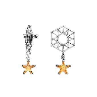 Storywheels Silver Hexagon with Citrine Star Dangle Charm S003C