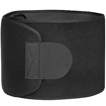 TRIXES Neoprene Waist Trimmer Belt - Calorie Fat Burning Exercise Weight Loss Aid and Adjustable Body Shaper - Black