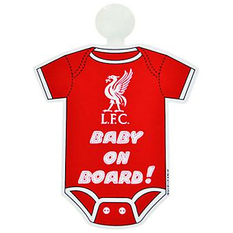 Liverpool FC Official Football Kit Baby On Board Car Window Sign