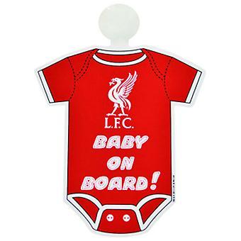 Liverpool FC officielle fodbold kit baby om bord bil vindue tegn