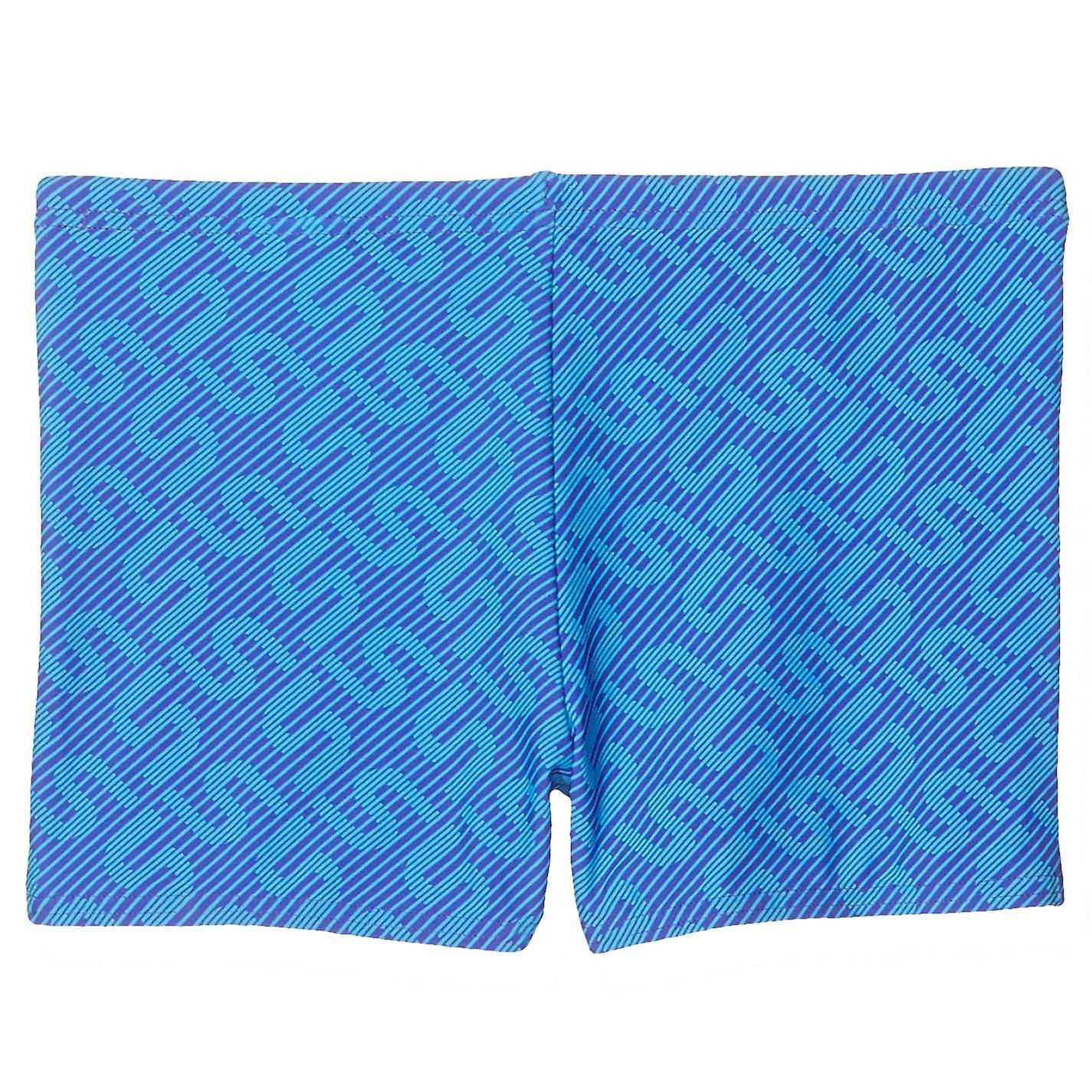 Speedo Monogram Allover Kids Boys Swimming Aquashort Water Short Blue/Purple
