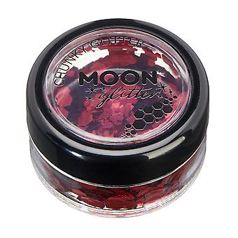 Classic Chunky Glitter by Moon Glitter – 100% Cosmetic Glitter for Face, Body, Nails, Hair and Lips - 3g - Red