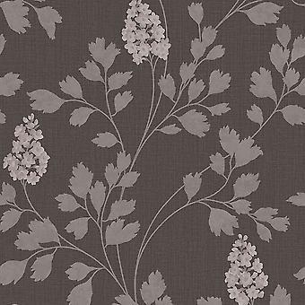 Arthouse Catalina bloemmotief behang blad motief glitter getextureerde vinyl 292500