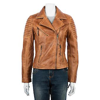 Ladies Asymmetric Biker Jacket