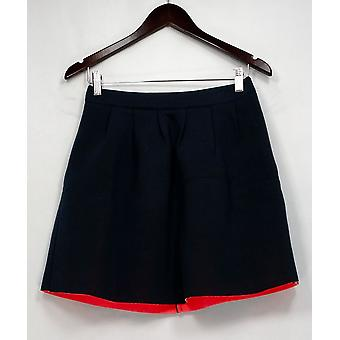 Sugar Lips Skirt Pleated Detailed w / Back zeipper Chiusura Blu