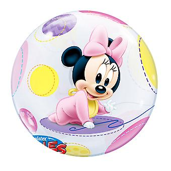 Qualatex 22 Inch Single Disney Baby Minnie Mouse Bubble Balloon