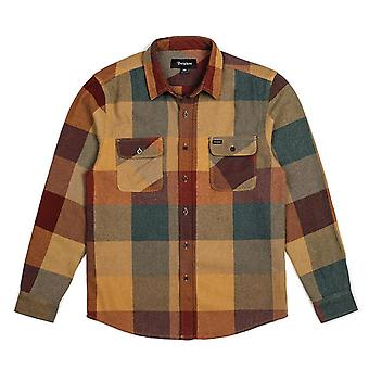Brixton Bowery Flannel L/S Shirt Rust Copper